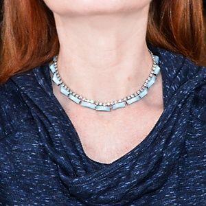 Jewelry - Rhinestone choker with blue accents